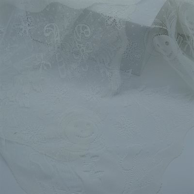 "TABLECLOTH 60""X108""WHITE LACE"